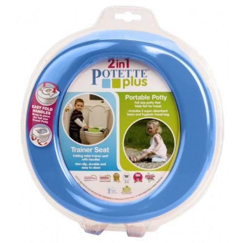 Olita portabila pentru copii, Potette Plus albastra