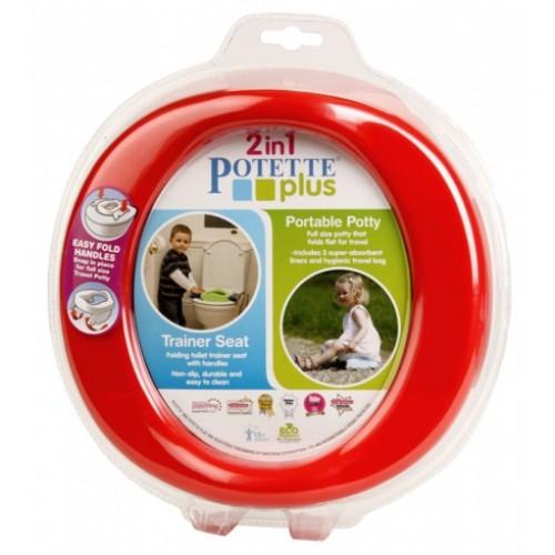 Olita portabila pentru copii, Potette Plus rosie