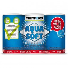 Hartie igienica AQUA SOFT - 6 role hartie solubila pentru toalete portabile