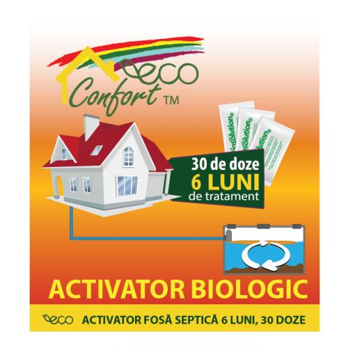 Bioactivator intretinere fosa 6 luni, 30 doze (750 gr) ECO CONFORT